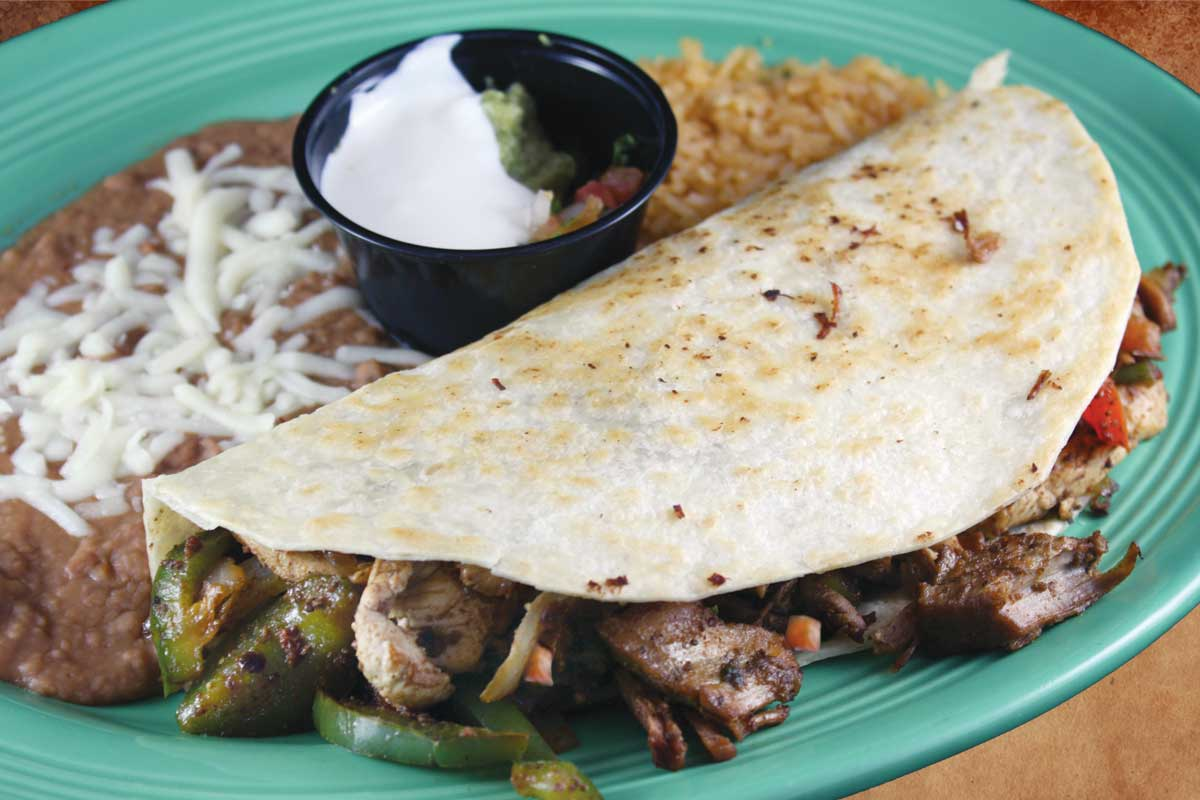 Hacienda Menu - Fajita Quesedilla